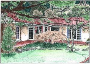 Pen & ink commission - Australian Bungalow