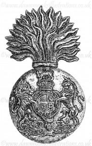 Royal Scots Fusiliers WW1 Cap Badge - Pen & Ink Book Illustration - Bellewaarde 1915