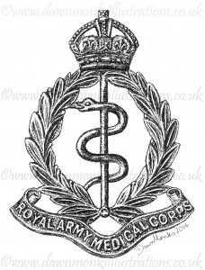 Royal Army Medical Corps Cap Badge - pre 1948