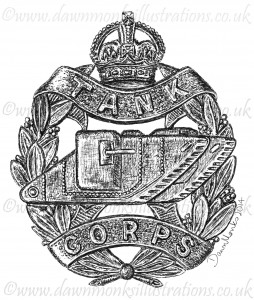 Tank Corps Cap Badge - WW1