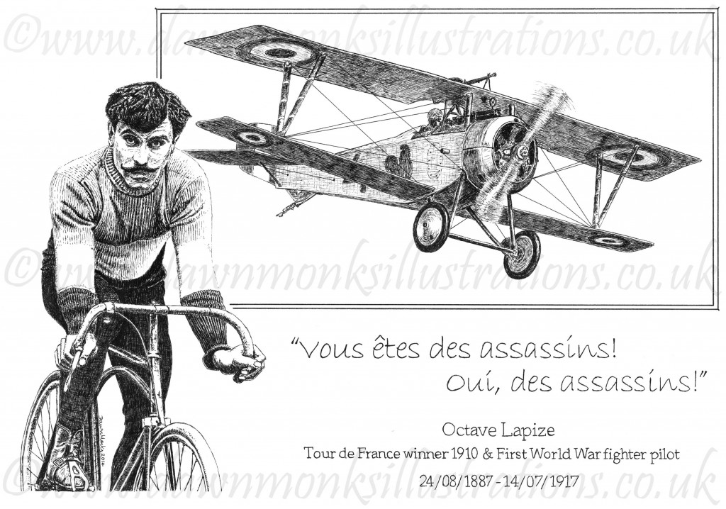 Octave Lapize & his Nieuport 23 - Tour de France Winner 1910 & First World War Fighter Pilot