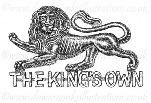 King's Own (Royal Lancaster Regt) Cap Badge