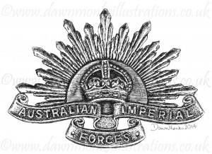 Australian Imperial Forces - First World War Headstone Insignia
