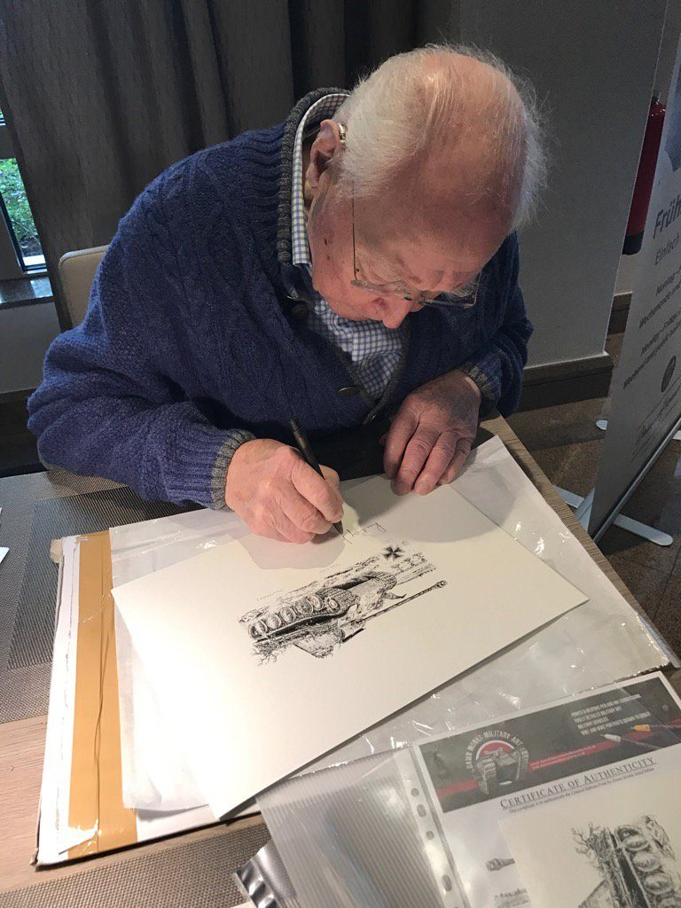 Ludwig Bauer signing print